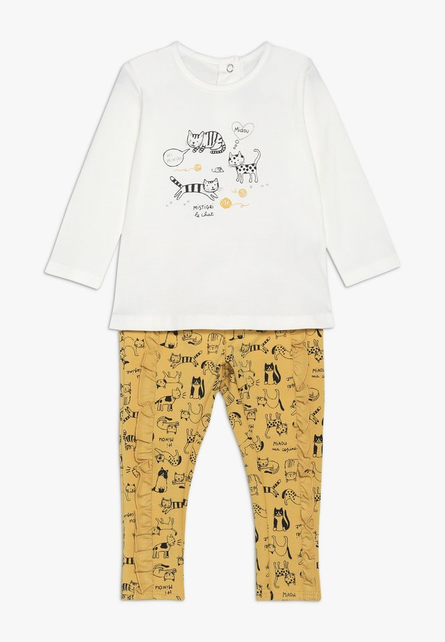 BABY OUTFIT PETITS CHATS SET - Kalhoty - bright yellow