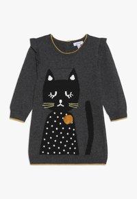 Absorba - BABY DRESS PETITS CHATS - Jumper dress - charcoal grey - 0