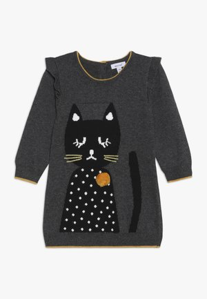BABY DRESS PETITS CHATS - Abito in maglia - charcoal grey