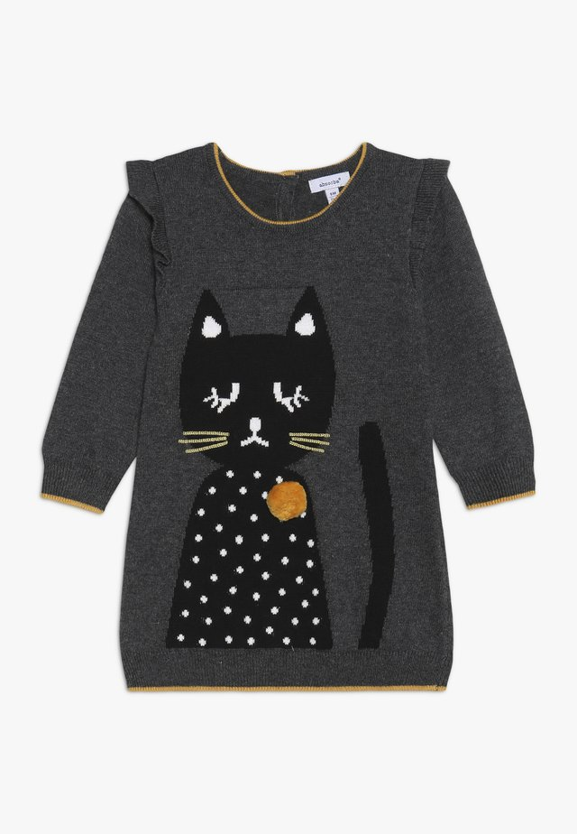 BABY DRESS PETITS CHATS - Strickkleid - charcoal grey