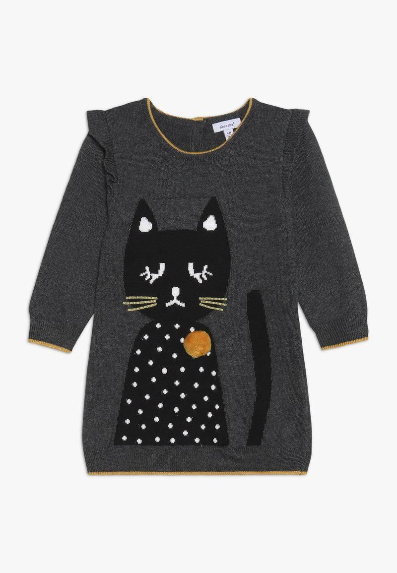 Absorba - BABY DRESS PETITS CHATS - Jumper dress - charcoal grey