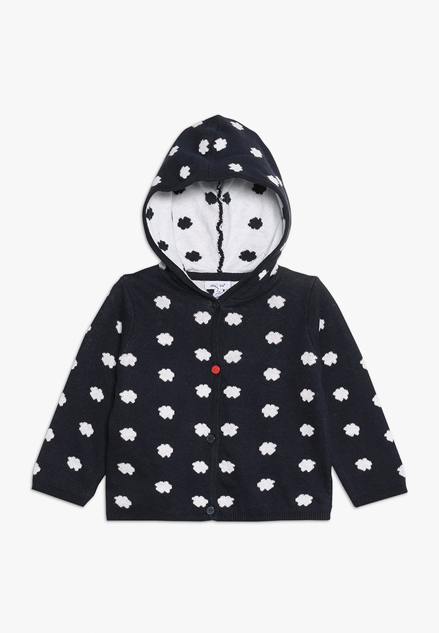 MANTEAU TRICOT BABY - Gilet - marine