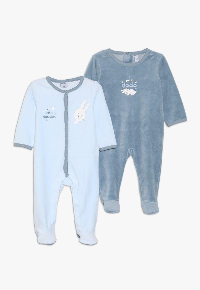 Absorba - BABY PLAYWEAR NUIT LAYETTE 2 PACK - Pigiama - light blue