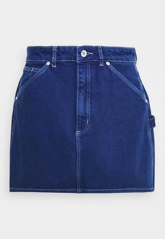ALINE SKIRT - Denimová sukně - techno blue