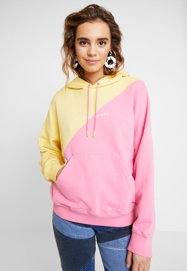 A OVERSIZED HOODIE - Bluza z kapturem - lemonade/bubblegum