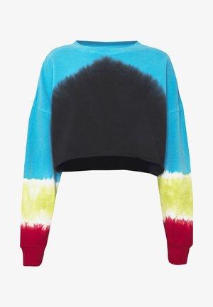 Sweatshirt - faded black/bora blue