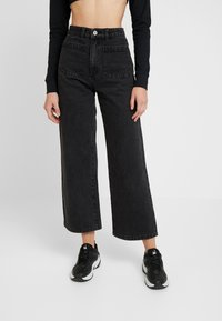 Abrand Jeans - STREET ALINE - Flared Jeans - graphite - 0