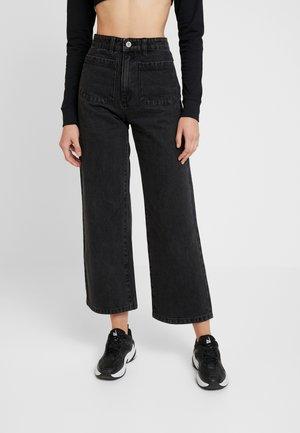STREET ALINE - Flared Jeans - graphite
