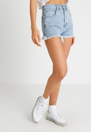 A HIGH RELAXED - Denim shorts - blue denim