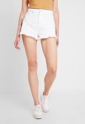 A HIGH RELAXED - Denim shorts - white