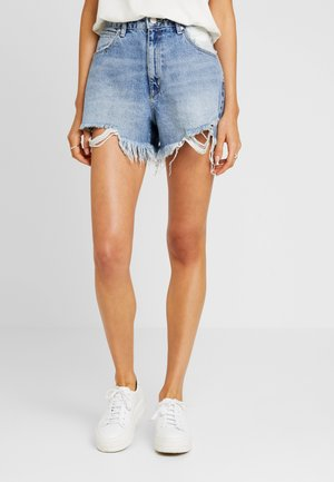 VENICE - Szorty jeansowe - blue denim