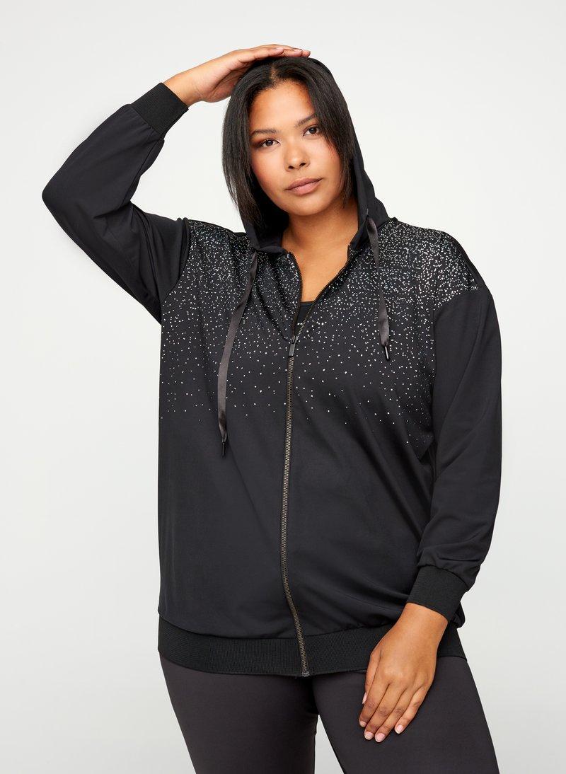 Active by Zizzi - Zip-up hoodie - black