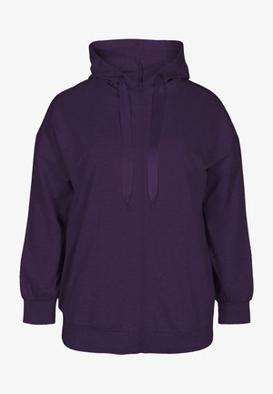 Zip-up hoodie - purple