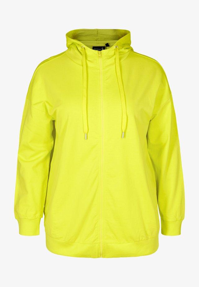 veste en sweat zippée - lime