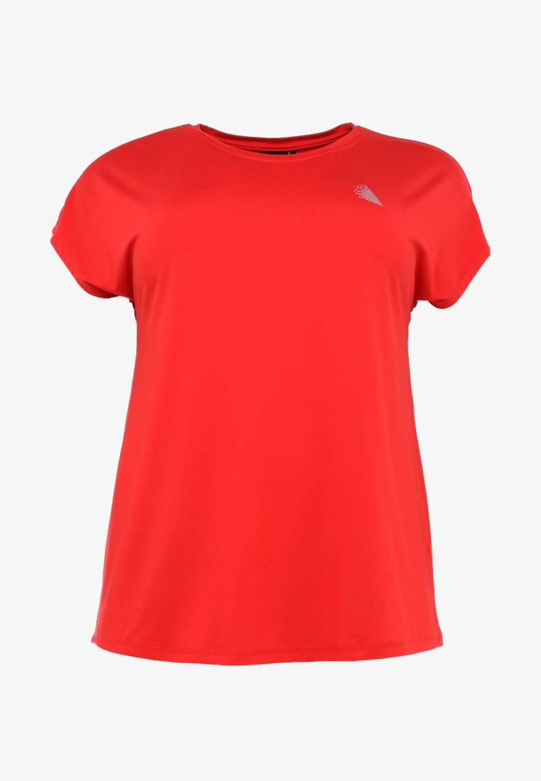 Active by Zizzi ABASIC ONE - T-shirts - flame scarlet