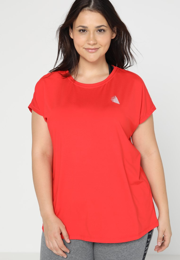 Active by Zizzi - ABASIC ONE - T-shirt basique - flame scarlet