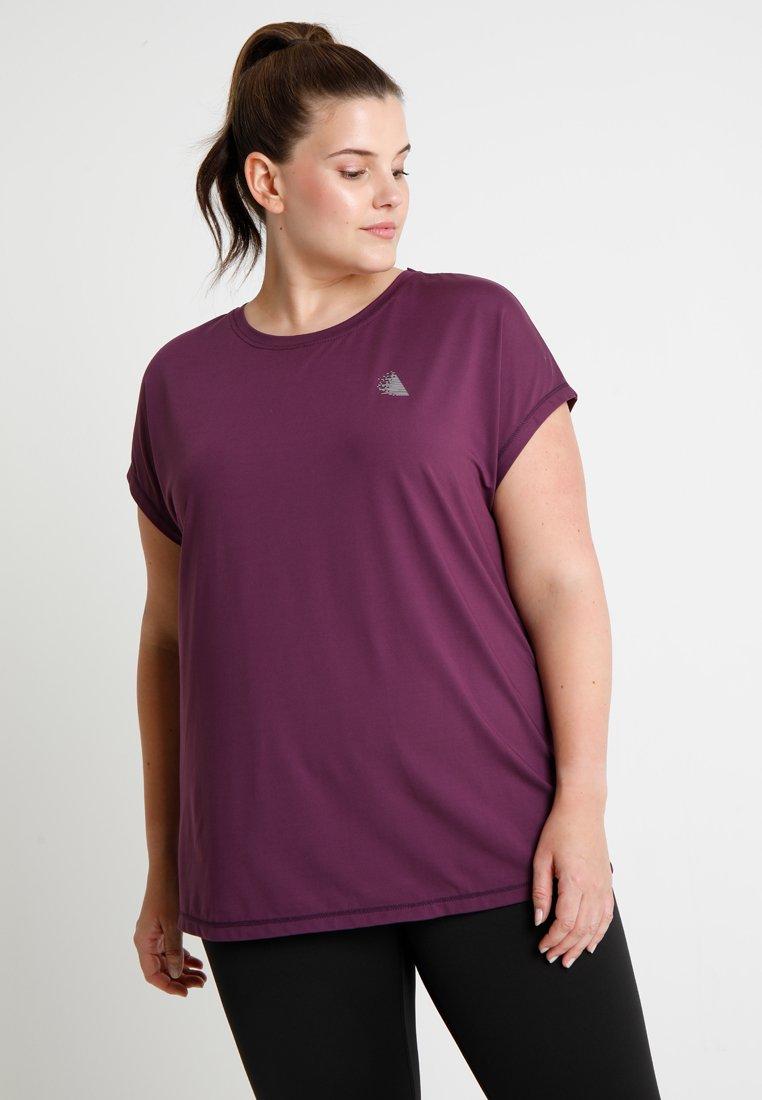 Active by Zizzi - ABASIC ONE - T-shirt basique - deep purple
