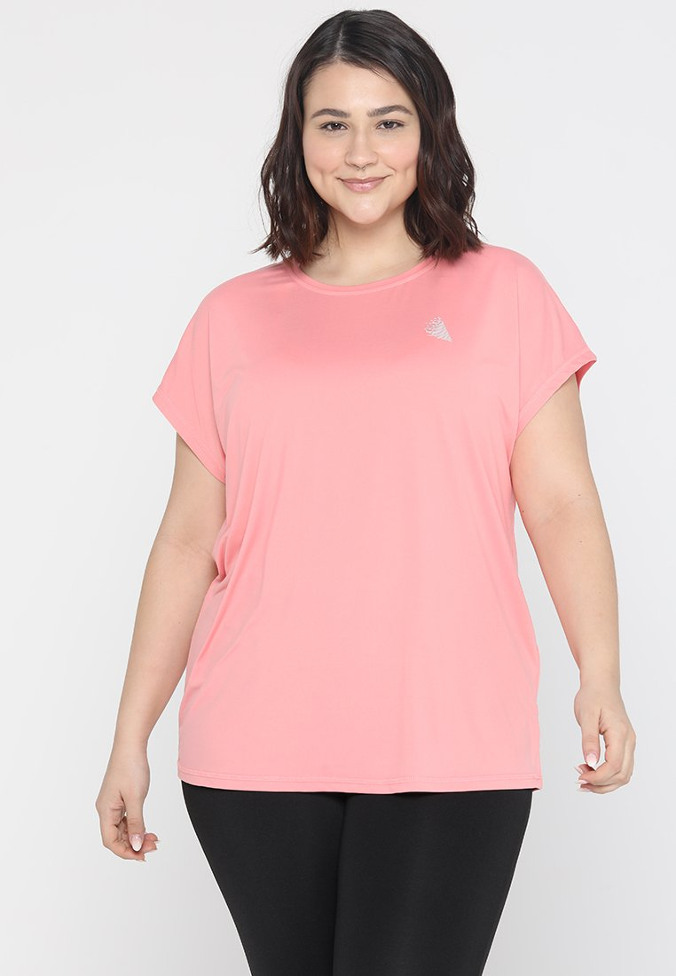 Active by Zizzi - ABASIC ONE - T-shirts basic - pink icing