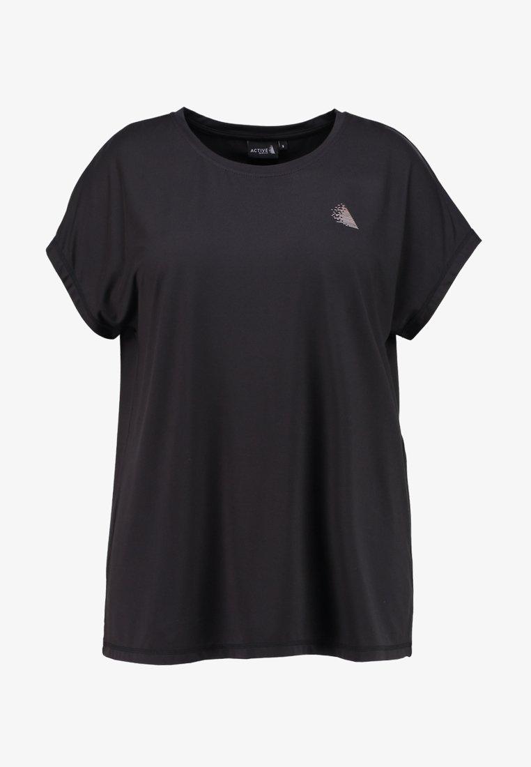 Active by Zizzi ABASIC ONE - T-shirts - black