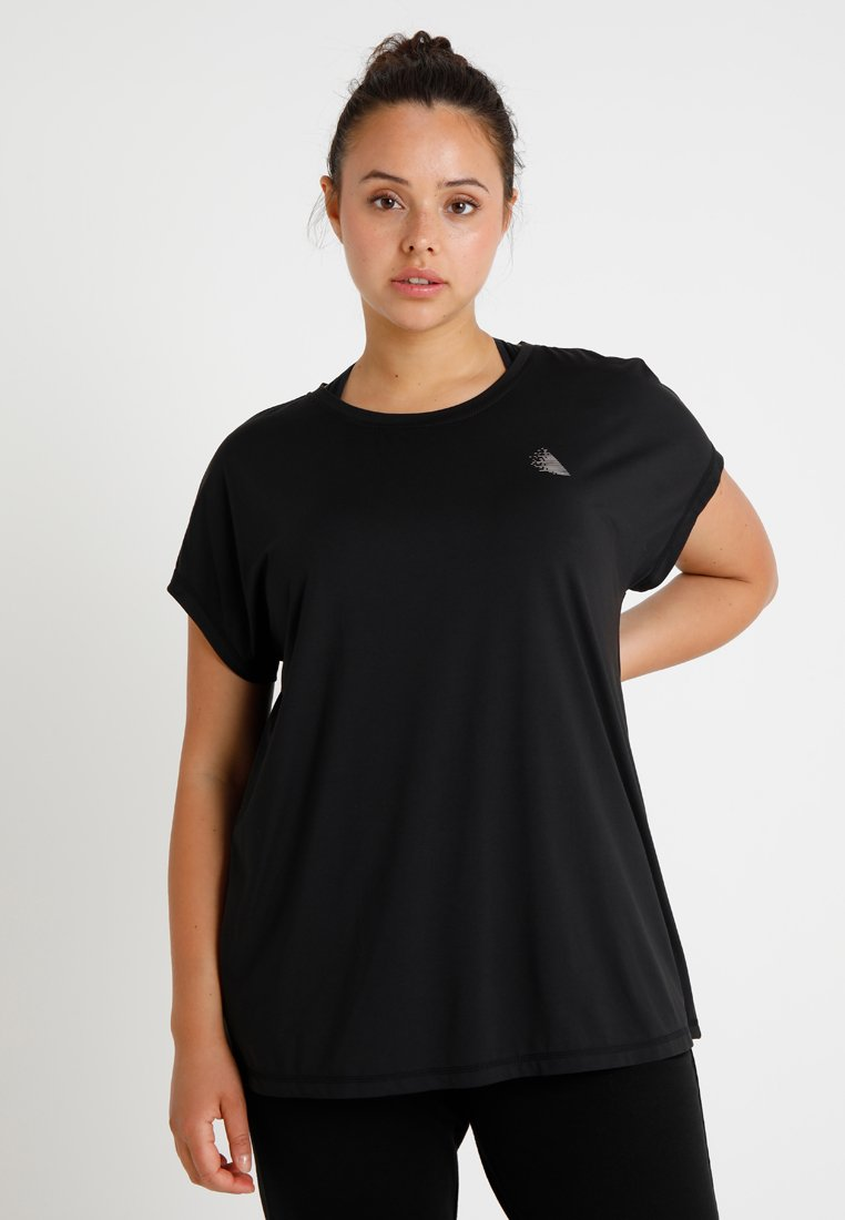 Active by Zizzi - ABASIC ONE - T-shirt - bas - black