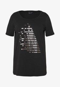 Active by Zizzi - ALOGO - T-shirt print - black/gun metal - 4