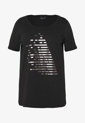 ALOGO - Camiseta estampada - black/gun metal