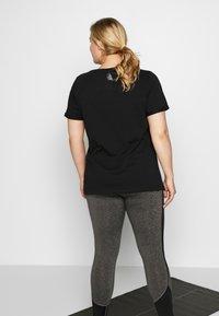 Active by Zizzi - ALOGO - T-shirt print - black/gun metal - 2