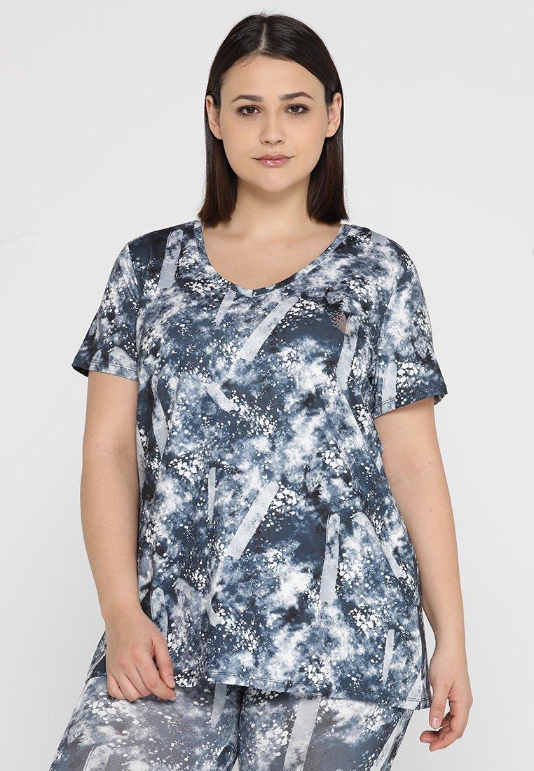 Active by Zizzi - ASARAJEVO - T-shirt print - blue