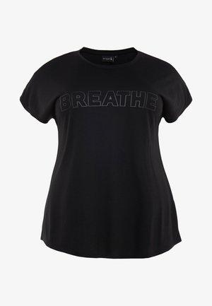 AMOLLY - Camiseta estampada - black