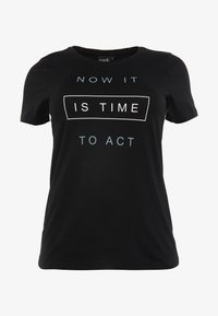 Active by Zizzi - ASUSY - T-shirt print - black - 0