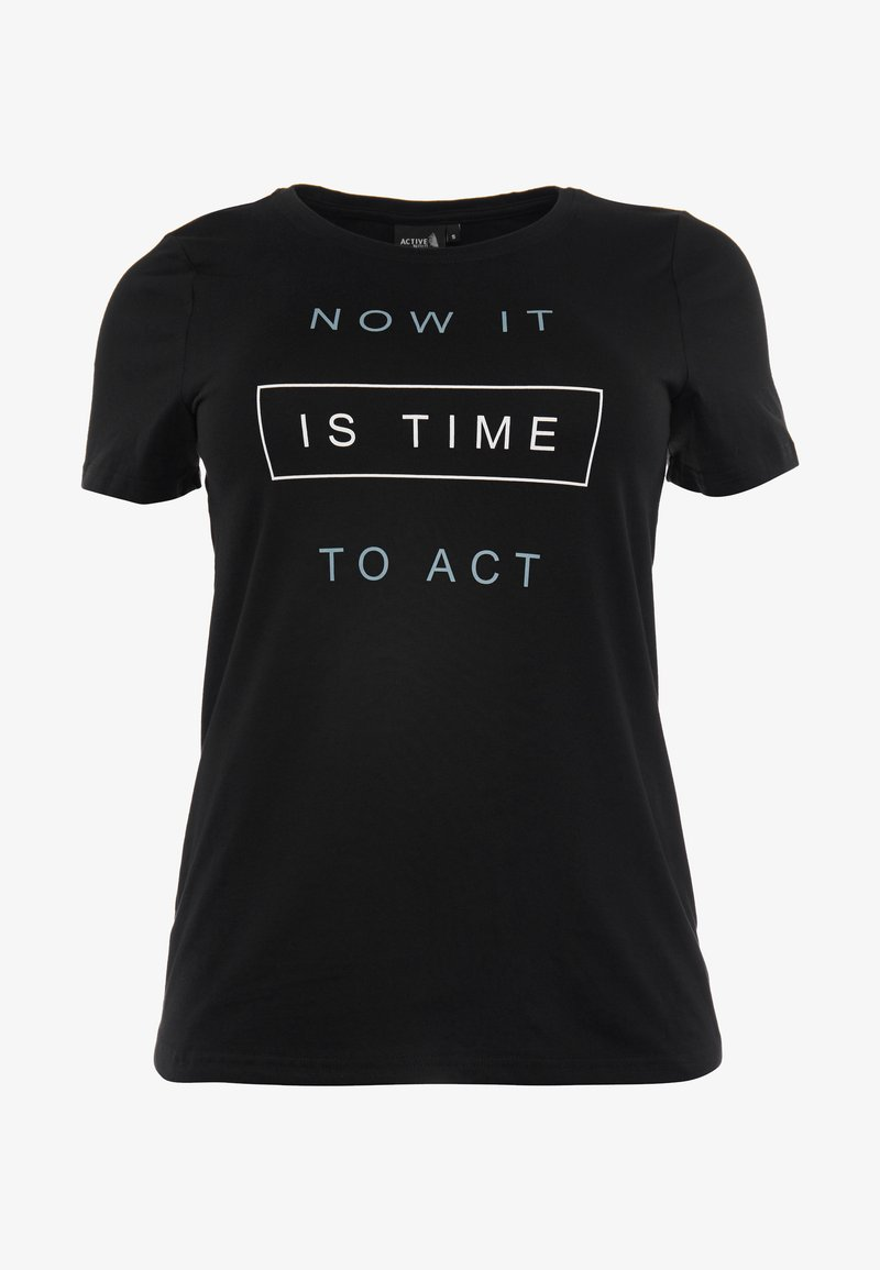 Active by Zizzi - ASUSY - T-shirt print - black