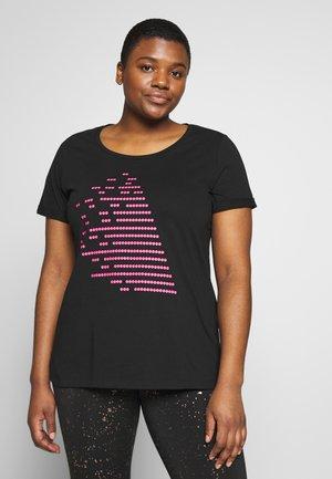 AZIZZI DOT LOGO - Sportshirt - black neon pink
