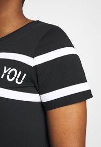 Active by Zizzi - AJUMP  - T-shirt imprimé - black/white - 4