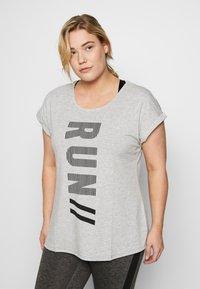 Active by Zizzi - ALAVENDER - Sportswear - light grey melange/run black - 0