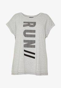 Active by Zizzi - ALAVENDER - Sportswear - light grey melange/run black - 5