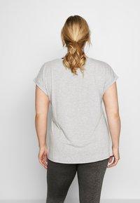Active by Zizzi - ALAVENDER - Sportswear - light grey melange/run black - 2