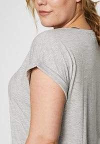 Active by Zizzi - ALAVENDER - Sportswear - light grey melange/run black - 4