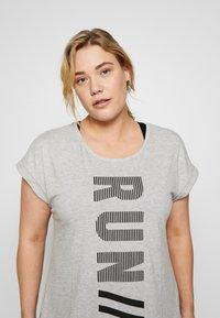 Active by Zizzi - ALAVENDER - Sportswear - light grey melange/run black - 3
