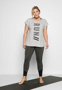 Active by Zizzi - ALAVENDER - Sportswear - light grey melange/run black - 1