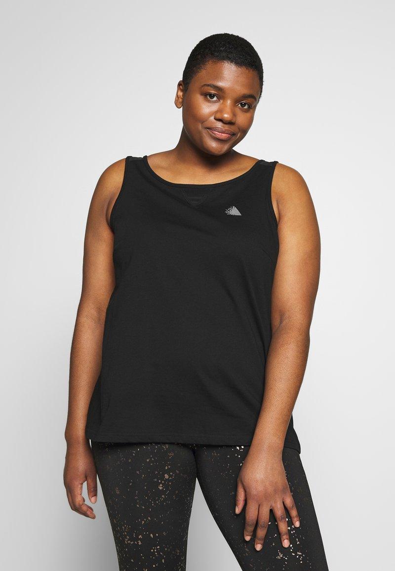 Active by Zizzi - ASISU - T-shirt sportiva - black