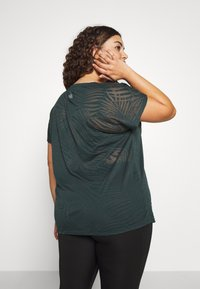Active by Zizzi - ALEAF  - T-shirt print - green - 2