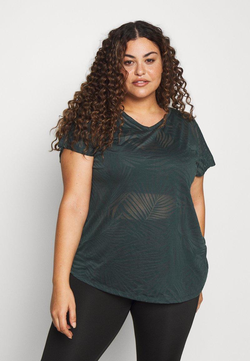 Active by Zizzi - ALEAF  - T-shirt print - green