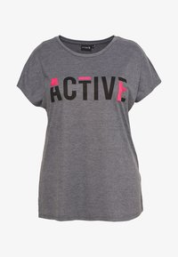 Active by Zizzi - ANELLA - Camiseta estampada - night sky melange - 0