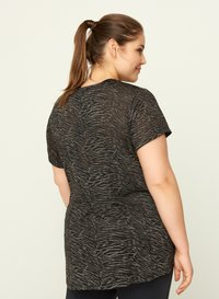 Active by Zizzi - AMEERA - T-shirts med print - black - 2