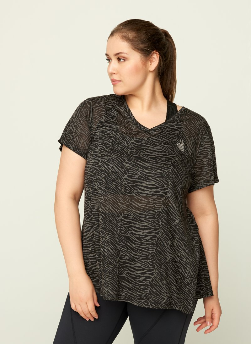 Active by Zizzi - AMEERA - T-shirts med print - black
