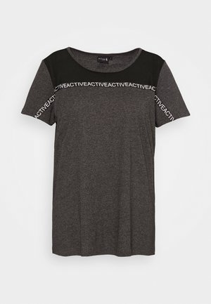 T-shirt con stampa - black melange