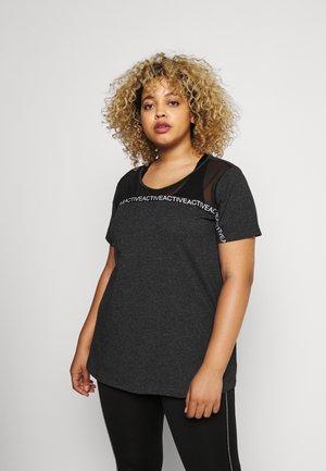 T-shirts print - black melange