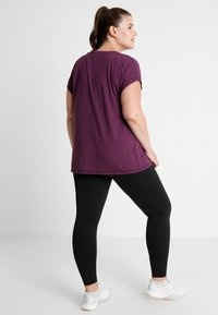 Active by Zizzi - BASIC ANCLE PANT - Punčochy - black - 2