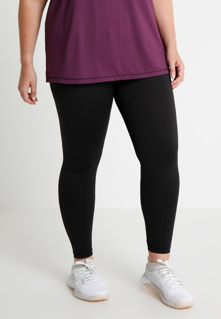 Active by Zizzi - BASIC ANCLE PANT - Collant - black