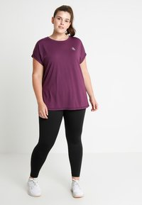 Active by Zizzi - BASIC ANCLE PANT - Punčochy - black - 1
